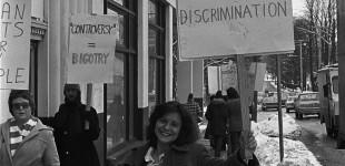 1977 CBC Picket Mary Ann Mancini